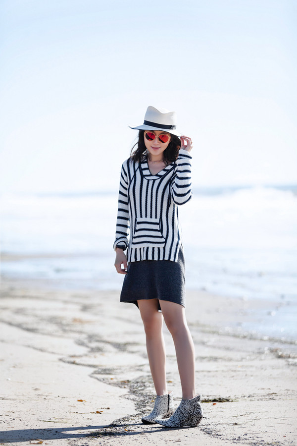 e9576572be fit fab fun mom blogger sweater dress shoes hat sunglasses jewels felt hat  ankle boots striped.