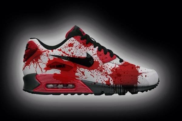 shoes sportswear nike air max nike air max 90 nike sneakers sneakers halloween nike air nike air max 90 air max blood zombie horror vampire