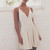 Simple v neck white short prom dress, homecoming dress - 24prom