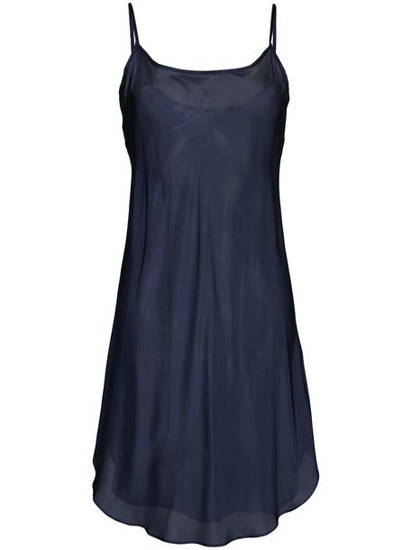 Lee Mathews dress slip dress women blue silk