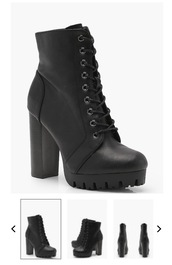shoes,lace yo,lace up,black boots,heels,ankle boots,lace up heeled boots
