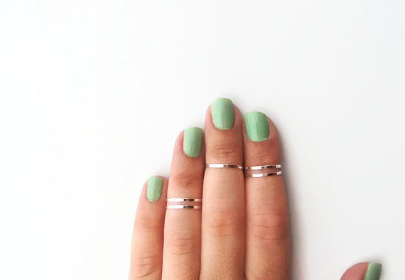 5 Above the Knuckle Rings  Plain Band Knuckle Rings by AlinMay