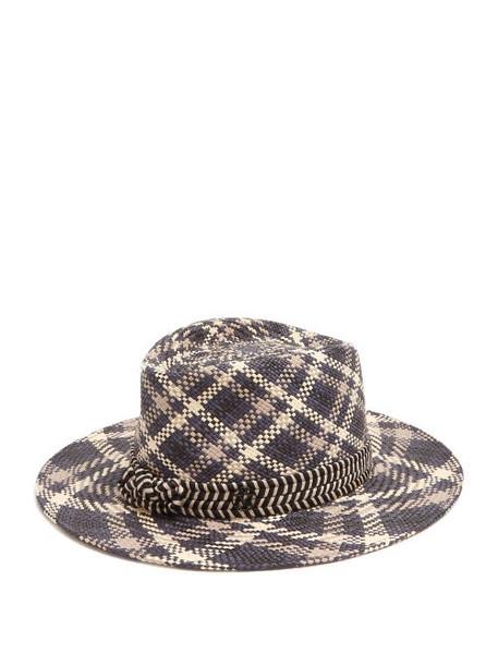 Maison Michel - Thadee Straw Hat - Womens - Blue