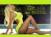 swimwear,trendy,nicki minaj,blackbarbie,summer outfits,neon bikini,bandage swimwear,summer trends,one piece swimsuit,fashion,fluorescent swimsuits,wholesale sexy swimwear,multicoloured hot swim tumblr cute,nicki minaj style,summer time fine,bodysuit,high heels