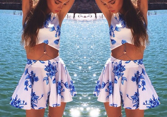 skirt floral details stylish crop tops