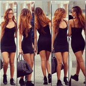 dress,bag,rihanna,little black dress,shoes