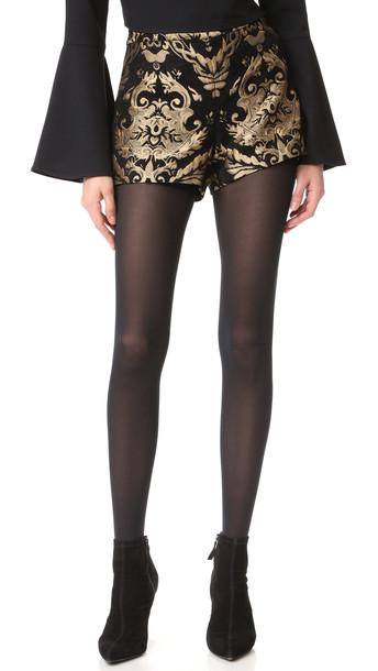 alice + olivia Alice + Olivia Marissa Shorts - Black/Gold