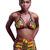 Yellow Tribal Print Strappy Bikini Swimsuit