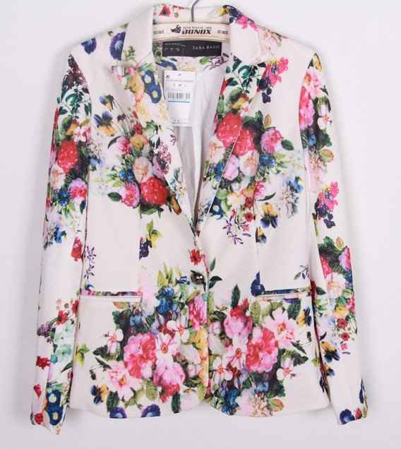 Floral pasely blazer
