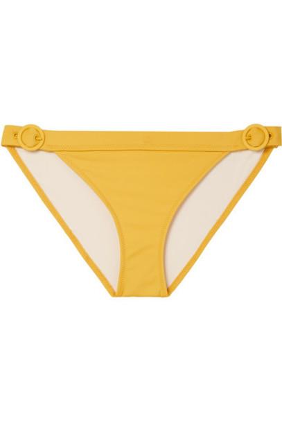 Solid and Striped bikini mustard swimwear
