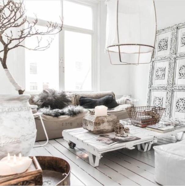 Home Accessory White Brown Decor Leather Pretty