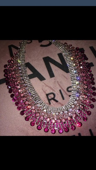 jewels necklace pink