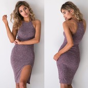 dress,girl,girly,girly wishlist,bodycon,bodycon dress,sexy dress,side split,knitted dress