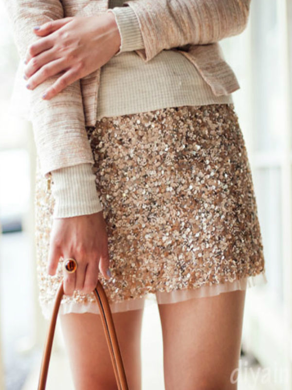 Zara Gold Pailettes Chic Sequin Embellished Skirt Festival Party Holiday 8 10 | eBay