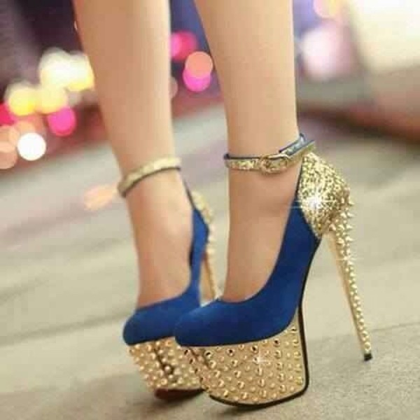 shoes high heels blue high heels glitter heels