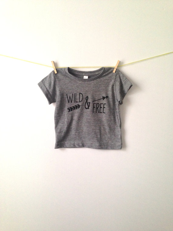 Wild & free . tri blend tee by greythread on etsy