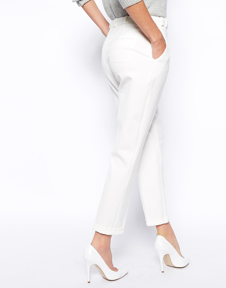 ASOS Trousers in Slim Leg with Turnup at asos.com