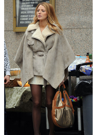 coat cape beige jacket jacket blake lively