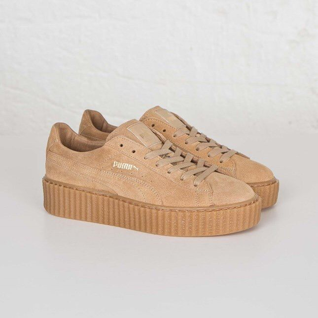 puma suede creepers fenty by rihanna oatmeal 361005 03. Black Bedroom Furniture Sets. Home Design Ideas