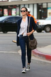 blouse,shirt,emmy rossum,fall outfits,sneakers,bag