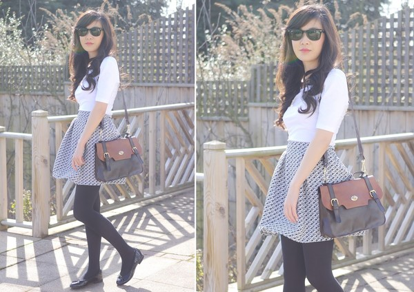 temporary secretary t-shirt skirt sunglasses shoes bag