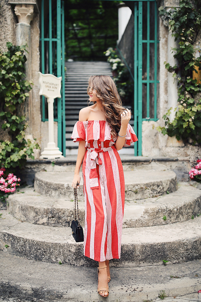 southern curls and pearls blogger jumpsuit dress top shorts sunglasses hat shoes bag jewels make-up