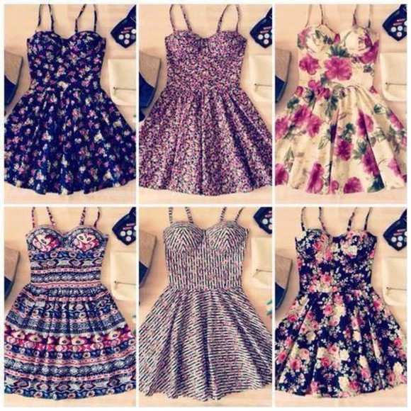 dress cute floral dress romantic pattern floral summer outfits spring cute dress