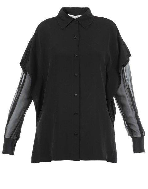 Diane Von Furstenberg shirt silk black top