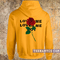 Rose loves me not hoodie - teenamycs