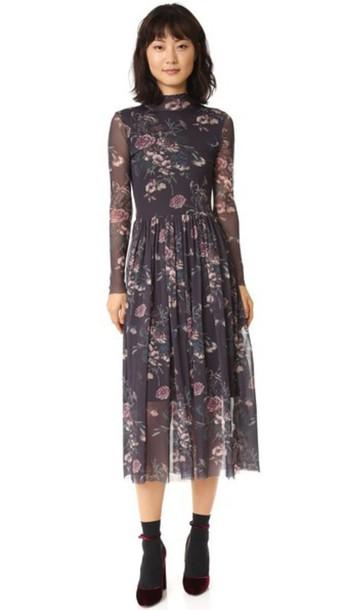 Ganni Delaney Dress - Black Bouquet