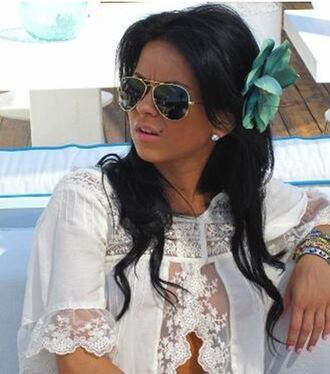 blouse lace blouse inna white blouse flower lace