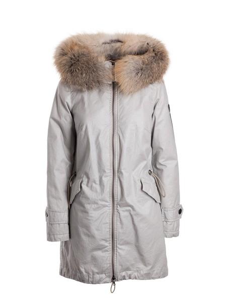 Peuterey parka fur fox silver coat