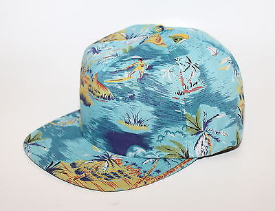 Obey baltimore meadow lark ii island print 5 panel hat cap new free ship