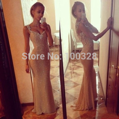 Aliexpress.com : buy 2014 new design custom made mermaid floor length court train sleeveless sexy v neck with sequins backless prom/evening dresses from reliable dress design ideas suppliers on rose wedding dress co., ltd
