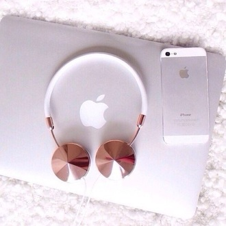 earphones rose gold rose