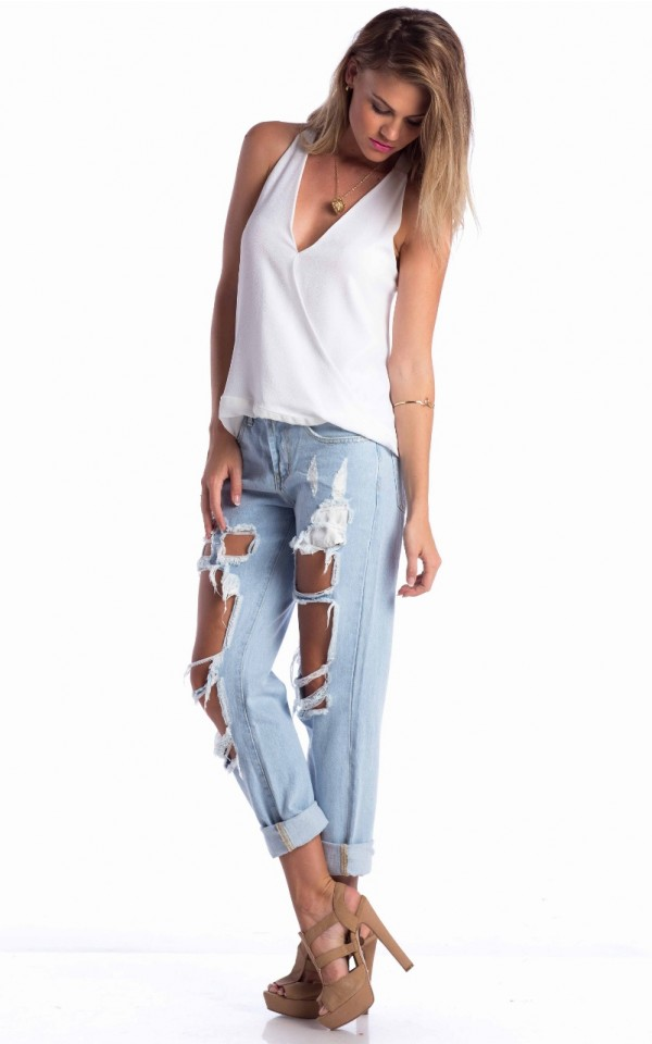 boyfriend jeans in blue | SHOWPO Fashion Online Shopping