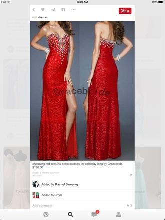dress red prom dresses sparkle dress red dress