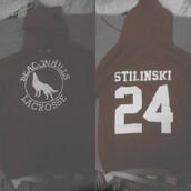 sweater,dark red,beacon hills lacrosse,jersey,dylan obrien,teen wolf