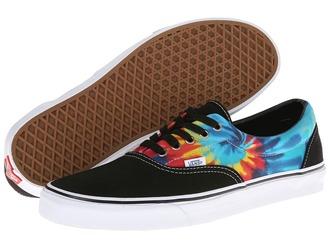 shoes vans acid wash black multicolor
