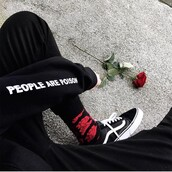 sweater,people are poison,black,grunge,hoodie