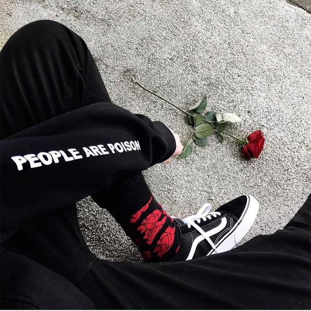 sweater people are poison black grunge hoodie