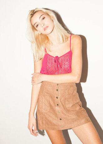 skirt suede skirt beige suede skirt mini skirt tan skirt 70s style