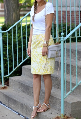 lilly's style blogger skirt t-shirt shoes bag jewels