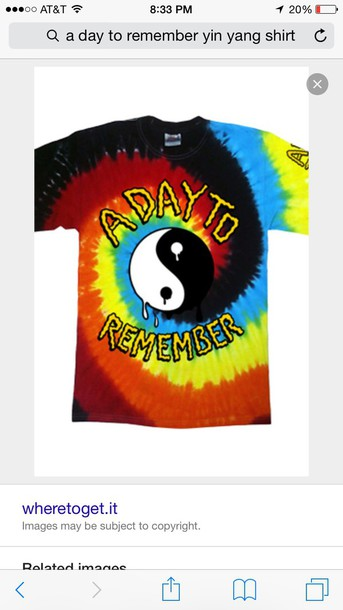 A Day To Remember Yin Yang Trippy Tie Dye Shirt Wheretoget