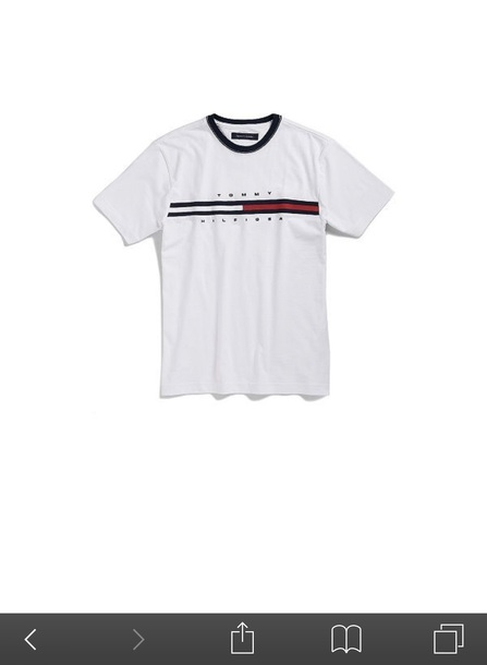 shirt tommy hilfiger white t-shirt