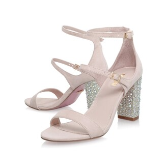 shoes strappy heels embelliished shoes shiny shoes going out shoes blush blush shoes bejewelled heel bejewelled shoes ankle strap heels
