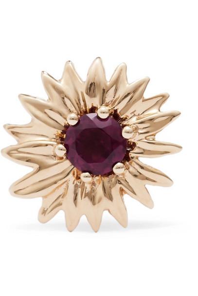 Aurélie Bidermann - 18-karat Gold Rhodolite Garnet Earring