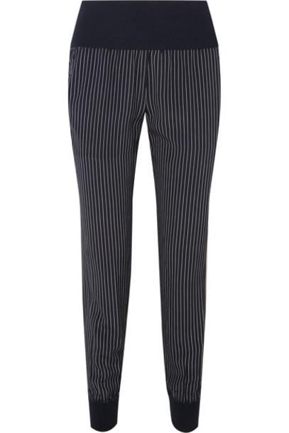 theory pants track pants navy silk