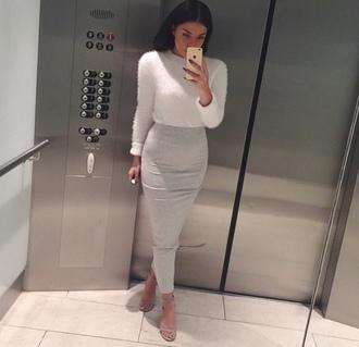 skirt grey skirt thight skirt bodycon skirt maxi skirt grey maxi skirt summer midi skirt