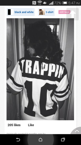 jersey black and white trappin 10